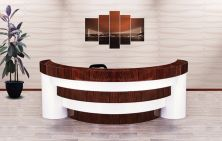 Conical reception desk