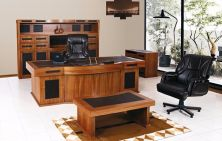 Tiger polished wooden Executive office furniture